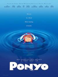 Affiche de Ponyo sur la falaise