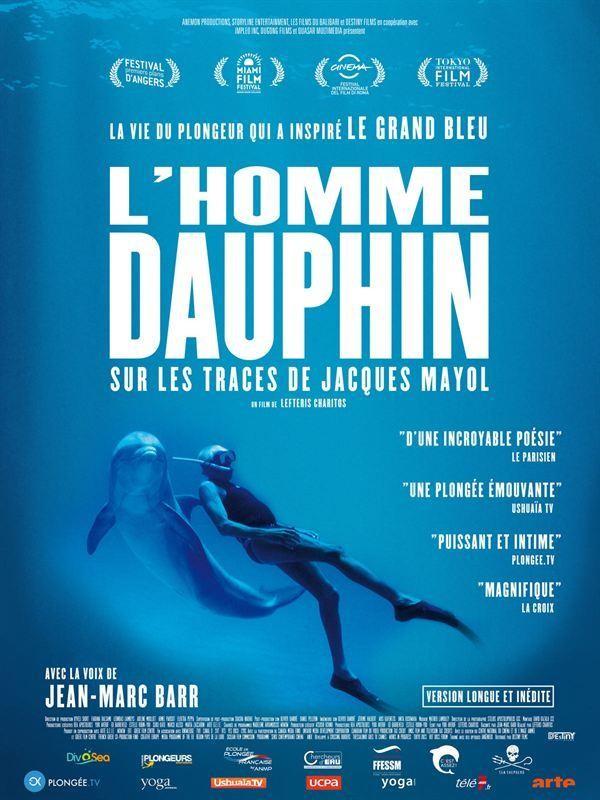 Affiche de L'Homme dauphin, sur les traces de Jacques Mayol